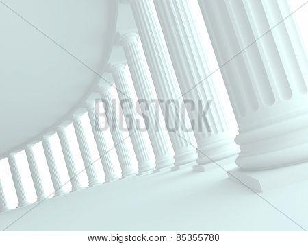 Doric colonnade