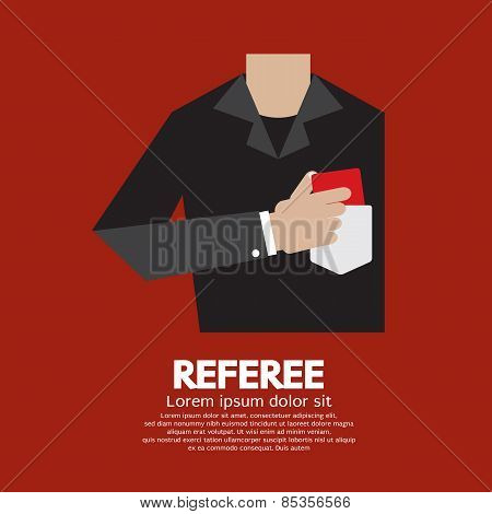 Referee With Red Card.