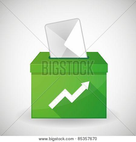 Green Ballot Box With A Graph