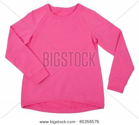 Pink blouse isolated on white background