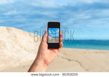 Man taking photo for instagram