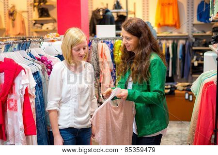 Two Women In The Clothes Shop
