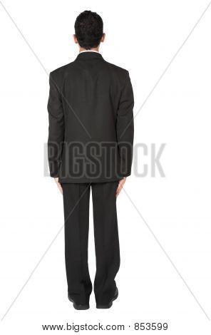 business man not facing