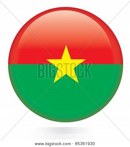 Burkina Faso flag button