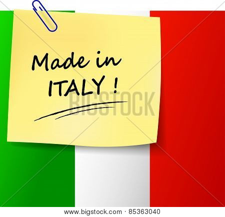 Made In Italy Sign