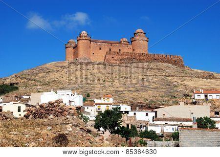 White town and castle, La Calahorra.