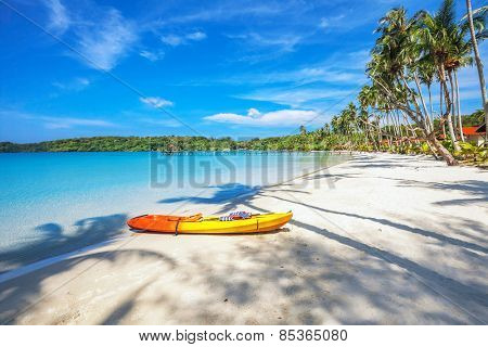 Kayak at the beautiful tropical beach. Thailand