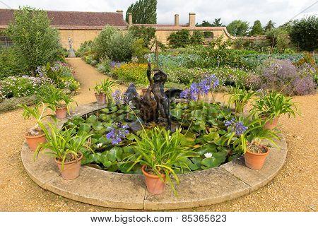 Kitchen garden Barrington Court near Ilminster Somerset England uk Tudor manor house