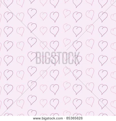 Background With Sketched Hearts