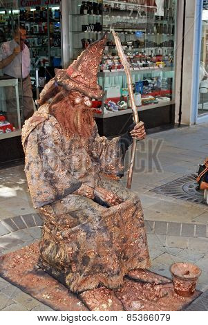 Wizard living statue.
