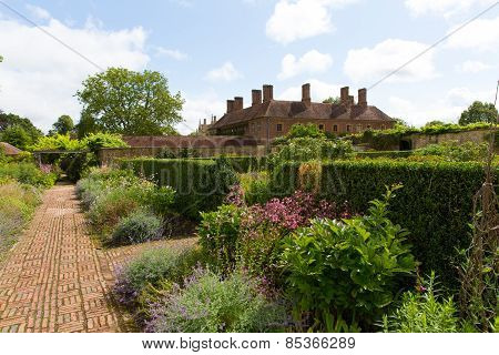 Grounds at Barrington Court near Ilminster Somerset England uk Tudor manor house