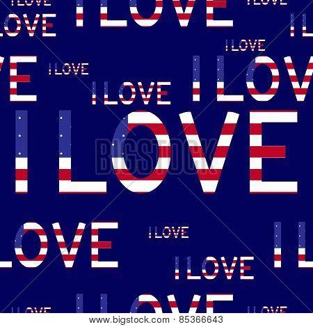 I Love Usa Background