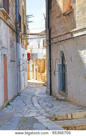 Alleyway. Minervino Murge. Puglia. Italy.
