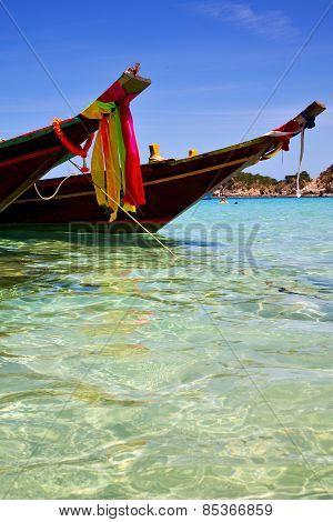Asia In The  Kho Tao Bay Isle White  Beach    South China Sea