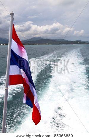 Asia Myanmar Samui Bay Isle   Flag     Thailand  Sea