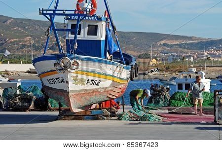 Fishing harbour, Puerto de la Atunara.