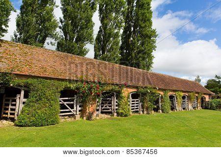 Stable block Barrington Court near Ilminster Somerset England uk Tudor manor house
