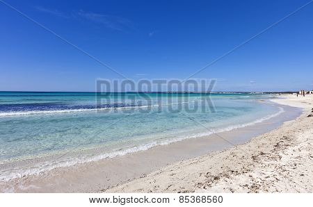 Beach Of Des Trenc At The Island Of Majorca In The Mediterranean Sea