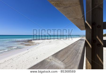 Beach Of Des Trenc At The Island Of Majorca