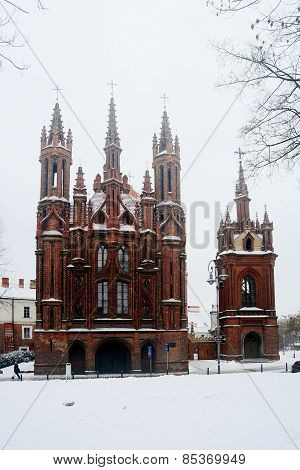 Vilnius St Anne's And Bernardine Churches In Winter