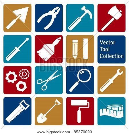 vector collection of tool icons