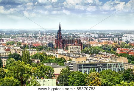 View On The City And The Church In Wroclaw
