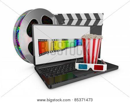Laptop And Popcorn