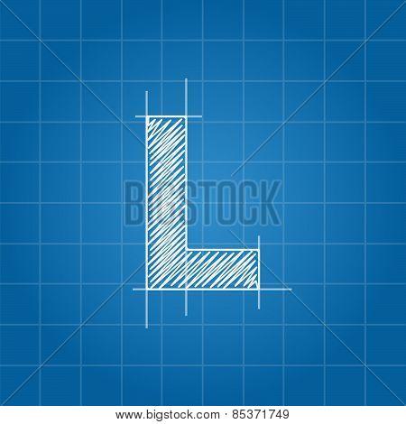 L letter architectural plan