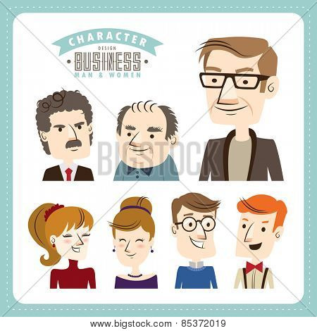 Businessman & businesswomen. People character design.