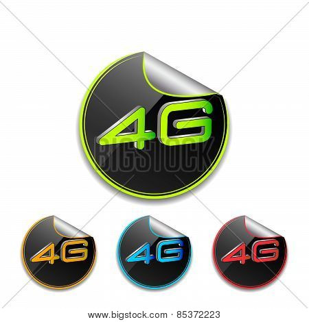 4G icon in different colors
