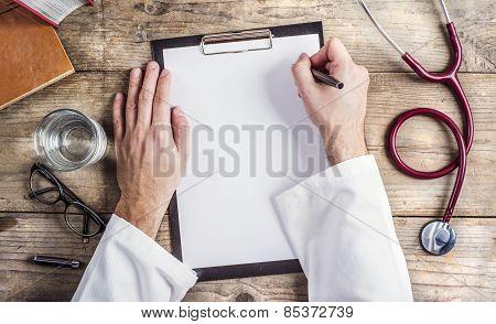 Desk of doctor
