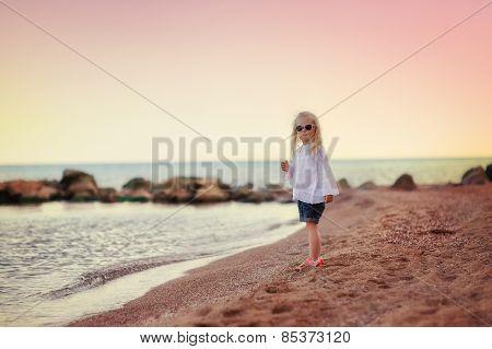 Little Girl On Sea