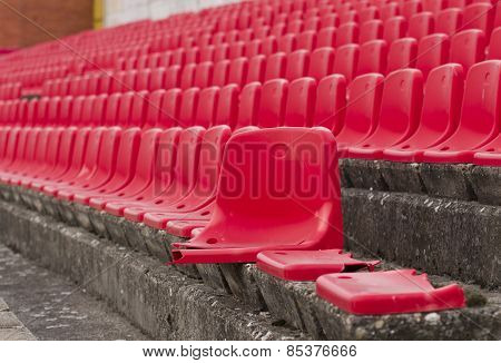 Broken Seats On Stadium