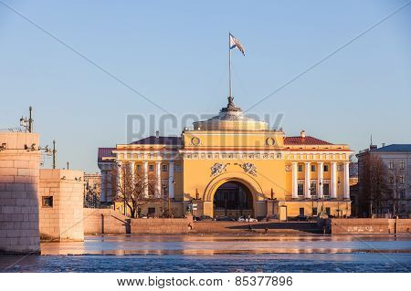 Admiralty Building In St. Petersburg, Evening Sun
