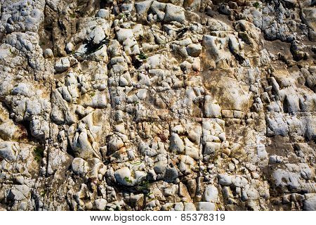 White Rockface Background Structure