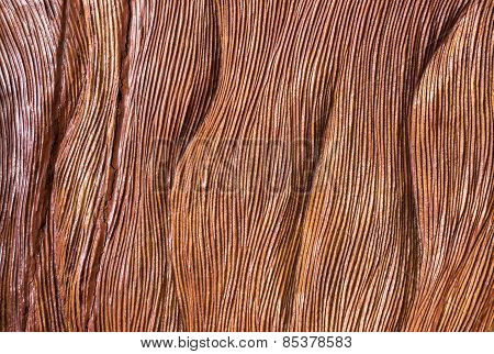 Traditional Handicarved Brown Wood Background