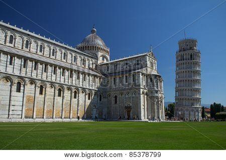 Piazza Del Duomo In Pisa (italy)