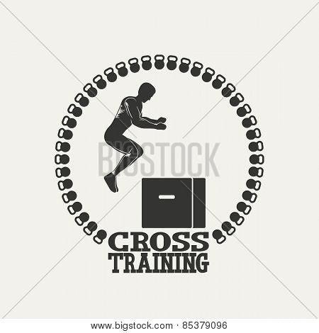 Cross Training man silhouet 3 logo