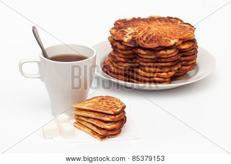 Homemade waffles and a cup of tea