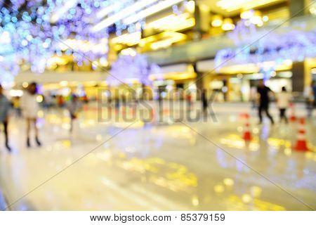 Blur Of Defocus Image Of Ice Rink Or Pond