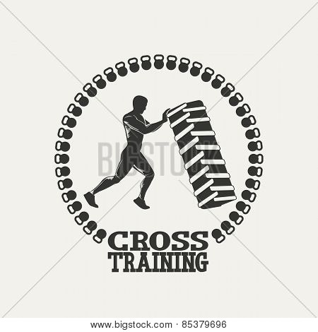 Cross Training man silhouet logo