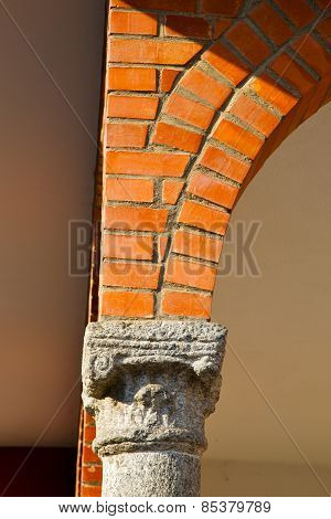 Wall Milan  In Italy Old     Concrete Wall  Brick   The    Abstract  Background  Stone