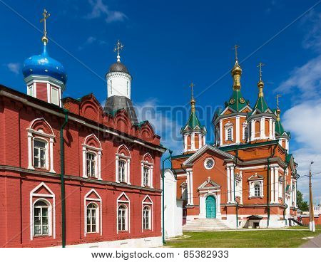 Red-brick Cathedral In Kolomna