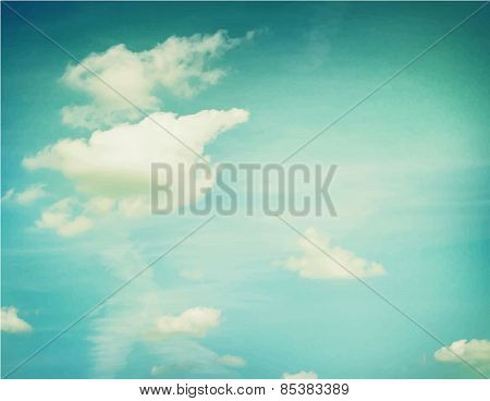 Couds in blue sky.  Nature background