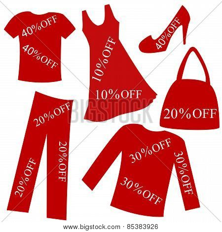 Red Clothing With Sale Percent Discount