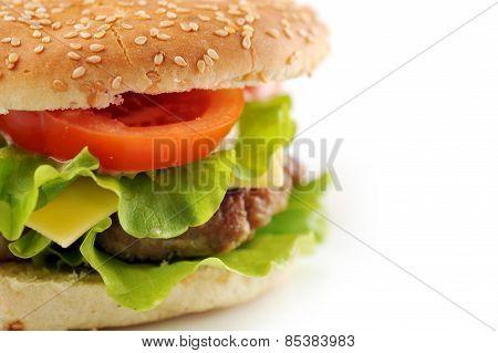 Hamburger With Cutlet