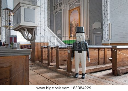 Kerimaki. Finland. Wooden church interior