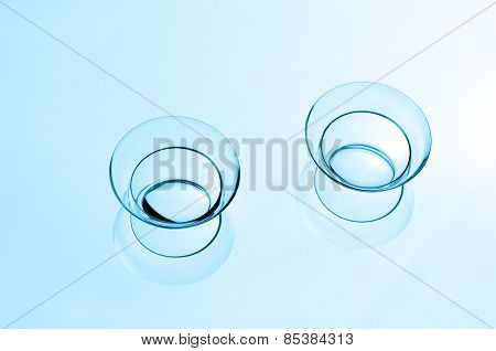 Two Contact Lenses