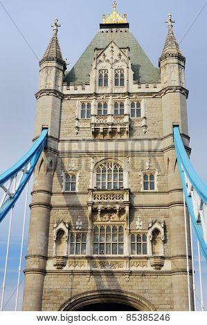 Single tower of Tower bridge