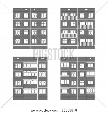 Panel Houses Set1